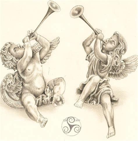 cherub angel tattoos cherubs with horn stuff to buy tattoos cherub