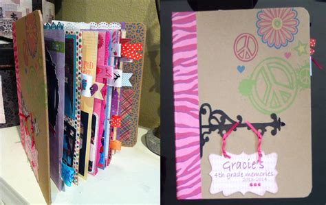 for to make at school how to make a school mini scrapbook album gracie s 4th
