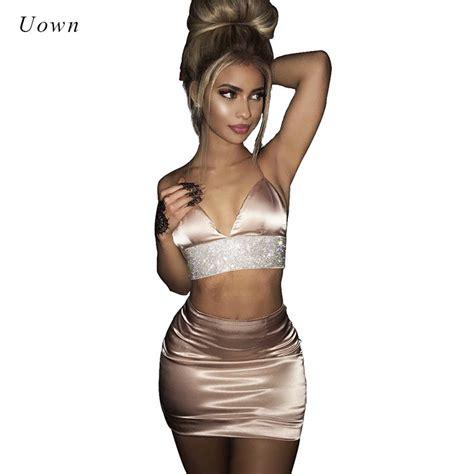 2 piece skirt set women 2 piece outfit set women crop top and skirt set bodycon