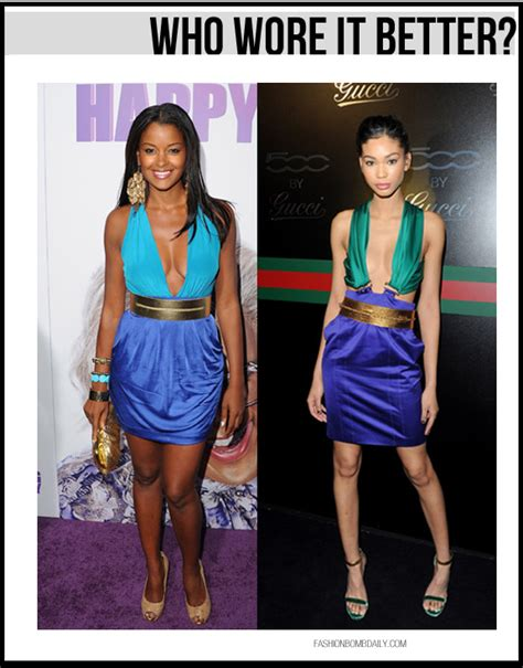 Who Wore Bebe Better by Who Wore It Better In Bebe Vs Chanel Iman