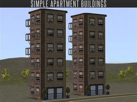 Sims 2 Apartment Zoning Mod The Sims Simple Apartment Building Neighbourhood