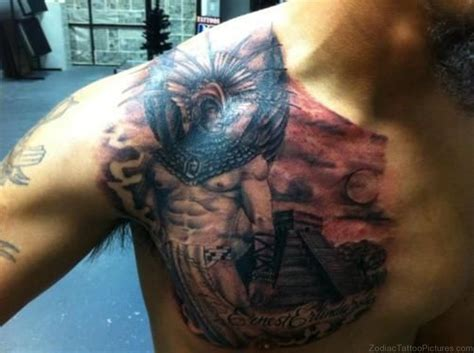 aztec warrior tattoo 50 best zodiac aztec tattoos on chest
