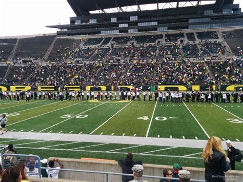 autzen stadium student section autzen stadium section 8 rateyourseats com