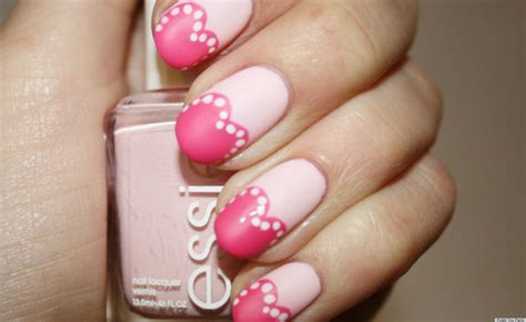 s day nail s day nail pretty in pink hearts manicure
