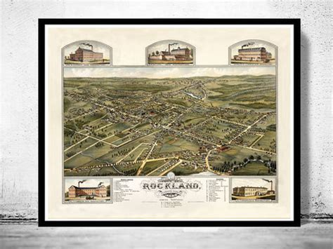 Masses Of Prints At The Va by Norfolk Virginia 1892 Panoramic View Vintage Maps