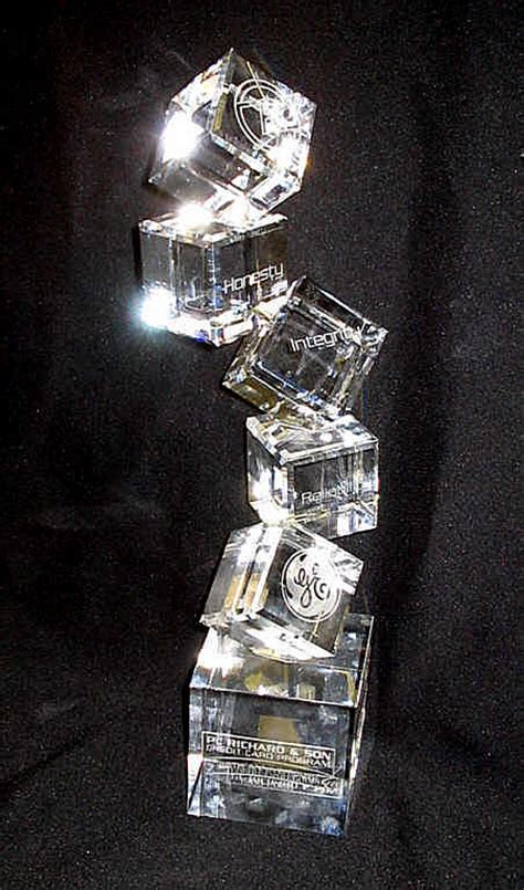 stacked cubes crystal l personalized items from crystal images