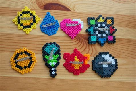 How To Make A Badge Out Of Paper - perler bead poke badges 183 how to make a pin badge 183 other
