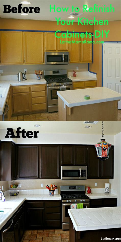 How To Refinish Painted Kitchen Cabinets Refinish Kitchen Cabinets On Cheap Kitchen