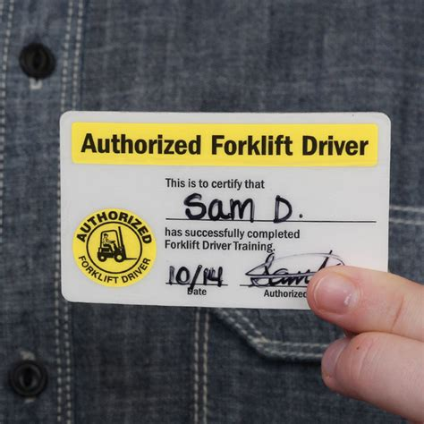 self laminating authorized forklift certification wallet