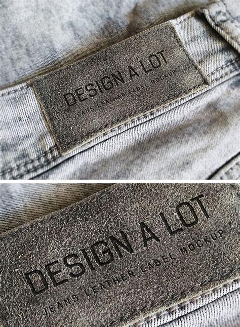 design label jeans jeans label free mockup free design resources