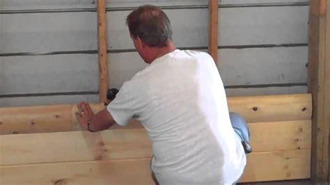 How Do You Make Shiplap How To Install Homestead Timbers Half Log Siding
