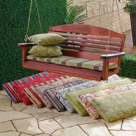 cushions for outdoor swings atrium 43 x 14 porch swing and glider cushion at hayneedle