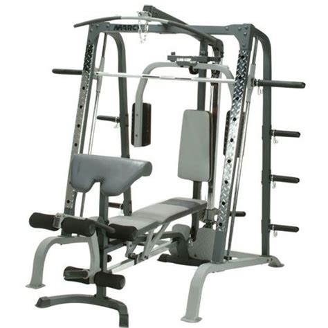 smith weight bench marcy sm4000 deluxe smith machine and weight bench sweatband com