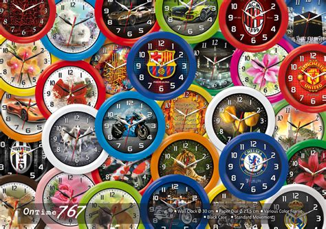 Jam Dinding Ontime 767 Football jam dinding on time diameter 30cm