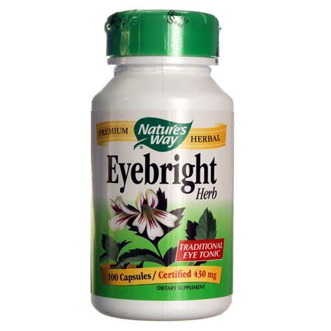 Vitamin Eye Bright Nature S Way Eyebright Herb 430 Mg 100 Capsules