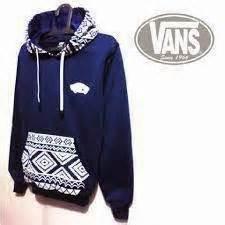 Jaket Murah Sweater Vans Batik Hoodie Black pusat penjual aksesoris tas dan baju korea terbaru dan