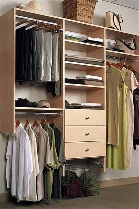 closet system with drawers for custom reach in closets