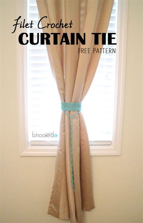 how to tie back curtains 20 free patterns for crochet curtain tie backs