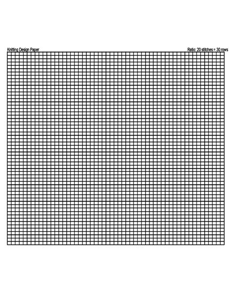 knitting pattern grid paper a4 knitting graph paper free download