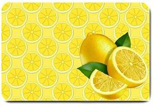 Yellow Kitchen Rugs Yellow Lemon Design Indoor Doormat For The Kitchen
