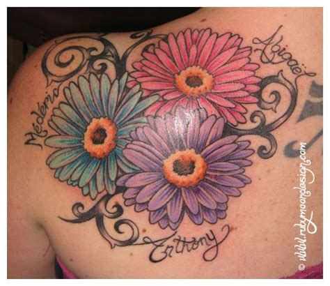 gerbera flower tattoo designs gerbera daisies tattoos