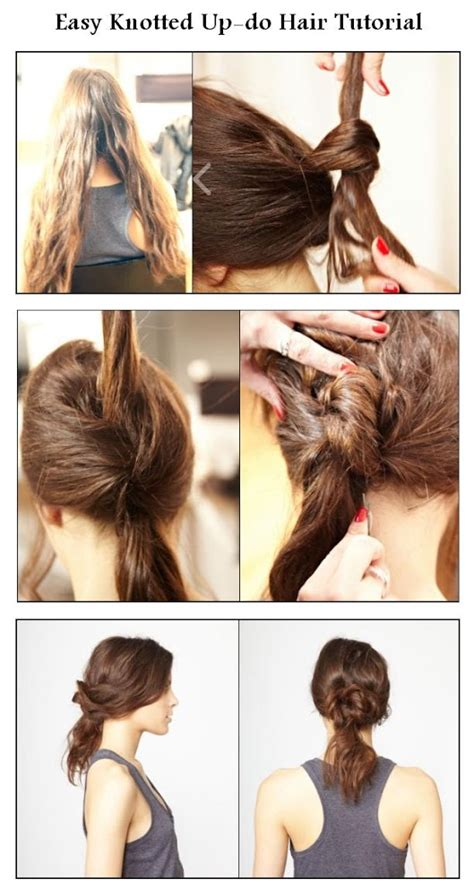 step by step instructions for hairstyles for kids diy easy knotted updo hair hairstyle diy fashion image