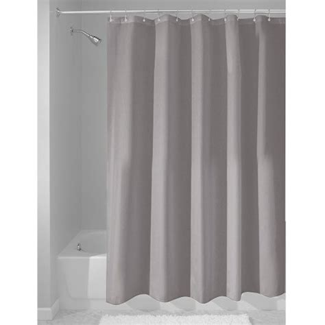 grey shower curtain liner interdesign fabric waterproof shower curtain liner 72 by