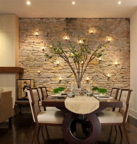 Ideas For Dining Room Walls by Faux Stone Wall In Dining Room Home Ideas Pinterest