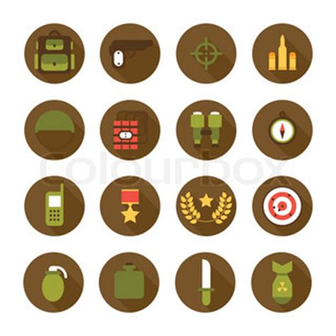 military design elements 25 vector military and war icons set army infographic design