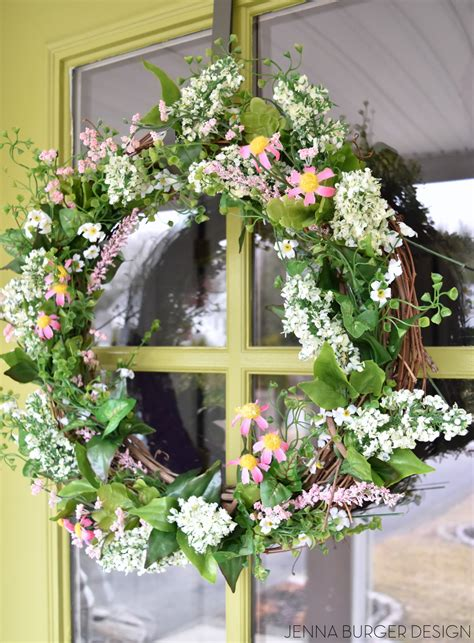 simple spring wreath jenna burger