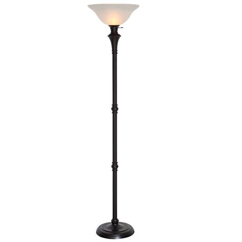 stand up l shade 72 75 in bronze floor l with white alabaster shade