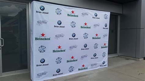 how to design backdrop banner pop up display for trade shows plus step repeat banners