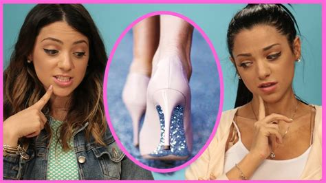 diy hairstyles niki and gabi nikiandgabibeauty diy glitter high heels niki and gab