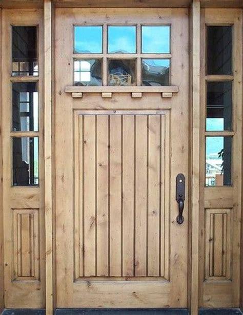 Knotty Alder Exterior Door Solid Wood Front Entry Door Sidelights Craftsman Doors Knotty Alder W