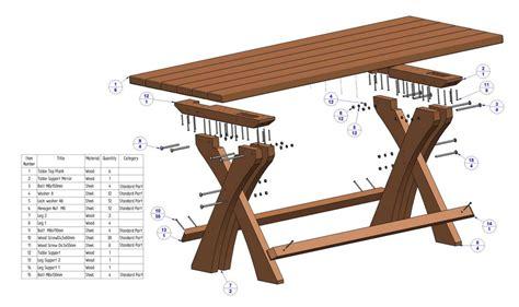 tafel maken constructie tuintafels om zelf te maken