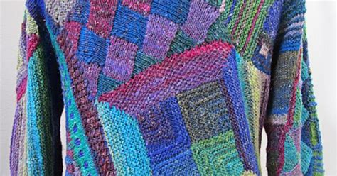 Knitted Patchwork Quilt - myrawood s quilt knitting patchwork cardigan