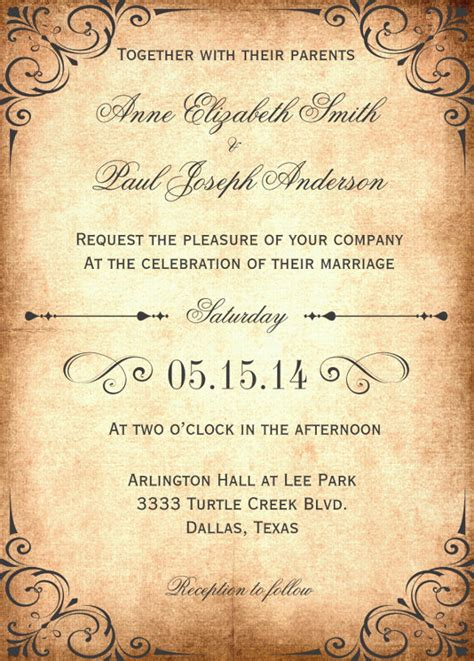 28 Wedding Invitation Wording Templates Free Sle Exle Format Download Free Wedding Invitation Wording Templates