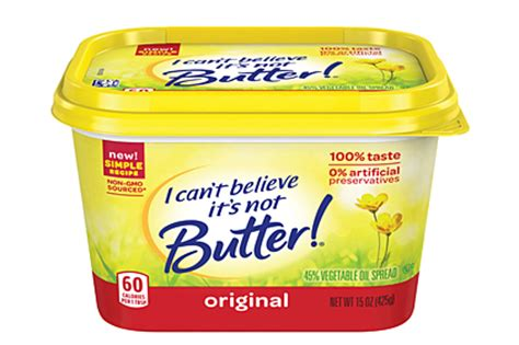 Kaos Icant I Will Believe That New reformulated i can t believe it s not butter 2014 12 03