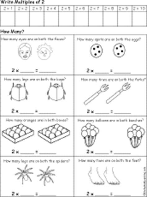 early multiplication printable worksheets early multiplication printouts count by 2 3 4 and so