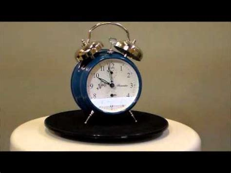sternreiter azure blue loud twin bell wind  alarm clock