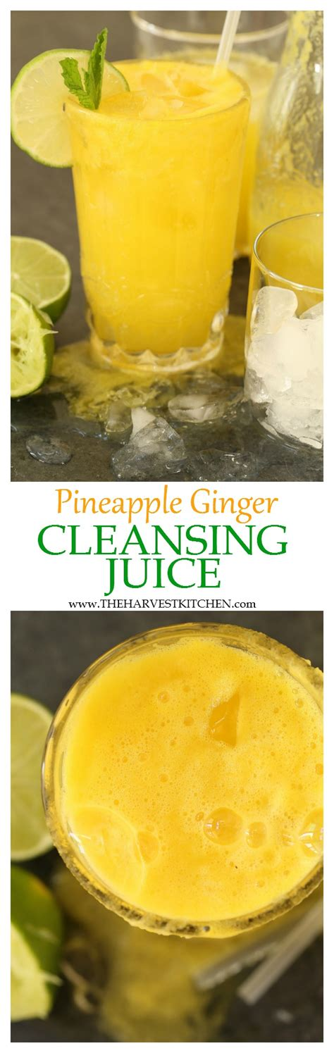 Pineapple Juice Detox Diet by Pineapple Cleansing Juice The Harvest Kitchen