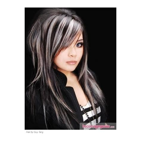 beautiful brunette hair with platinum highlights pictures hot trebd 2015 black hair and platinum blonde highlights hair highlights