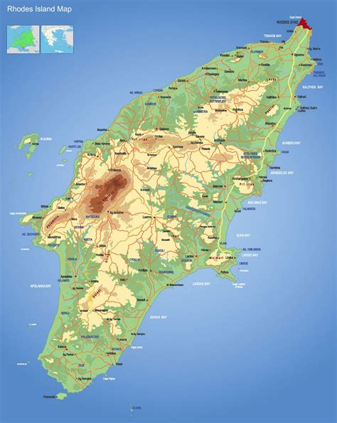 island map map of island rodos map xarths rodou greece island