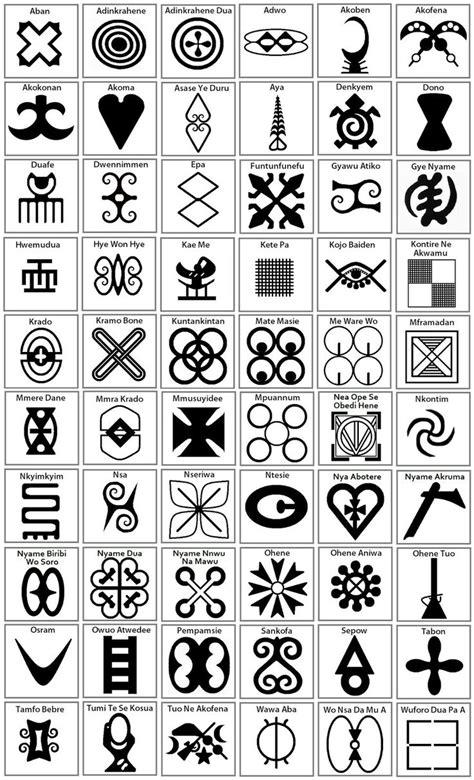 adinkra chart adinkra symbols tattoo vorlagen zeichnungen malvorlagen