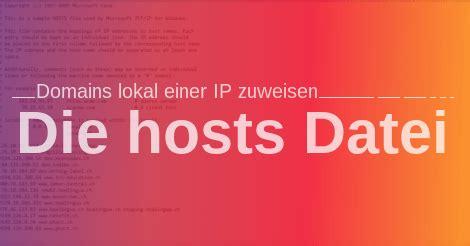 domains lokal einer ip zuweisen anpassen der hosts datei
