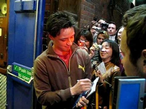 james mcavoy on stage quot three days of rain quot james mcavoy stage door london 06 may
