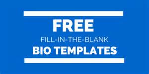 Free Bio Template Fill In Blank free fill in the blank bio templates for writing a