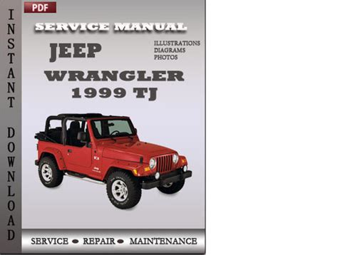 free online car repair manuals download 1999 jeep wrangler electronic throttle control jeep wrangler 1999 tj factory service repair manual download down