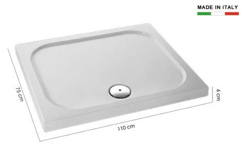 piatto doccia 75x110 piatto doccia rettangolare 75x110 h11618