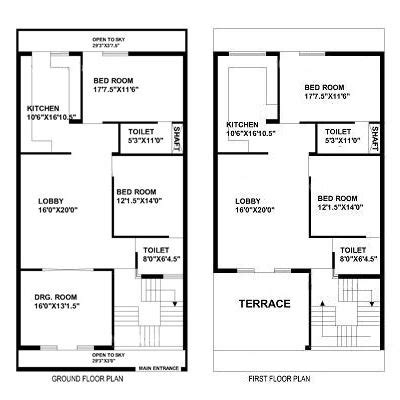30 by 60 house map plan 1 30th